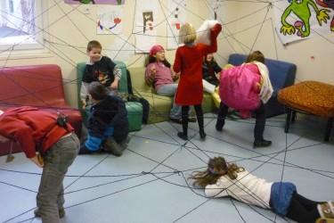 L'araignée géante tisse sa toile à l'ALSH