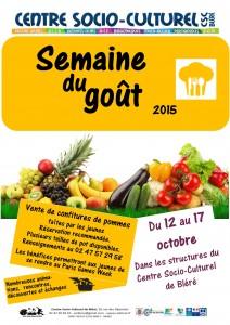 Affiche Semaine du gout 2015