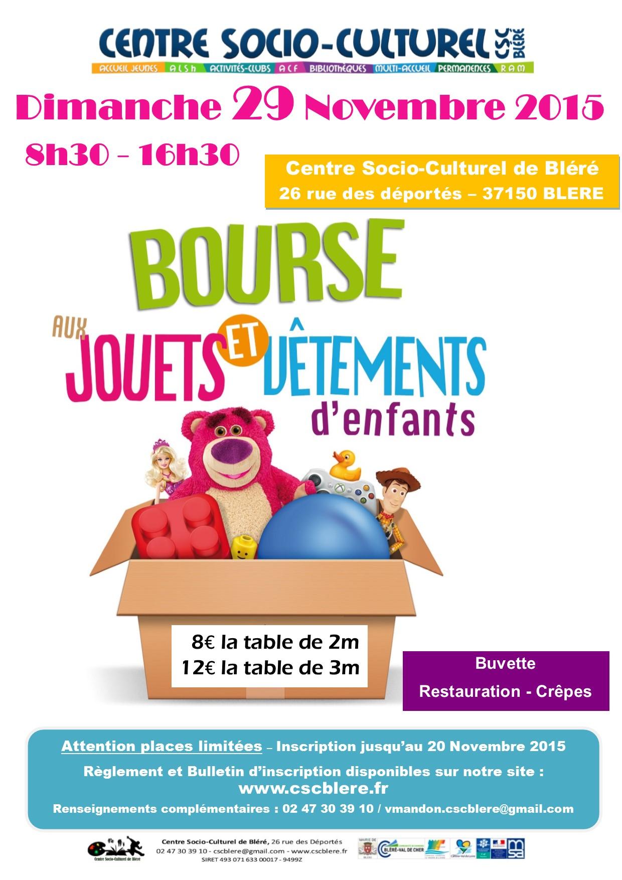 4ème Bourse aux jouets et aux vêtements   CSC Bléré 9104170e0746