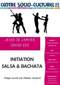 affiche soirée salsa