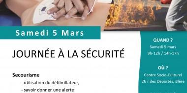 affiche journée à la sécurité 5 mars